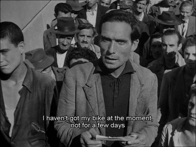 The example of neorealism in the bicycle thief